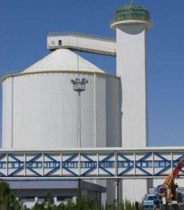 sugar silos